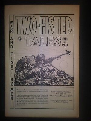 Two Fisted Tales Ec Comics Covers Portfolio 24 Prints 1980 William M  Gaines