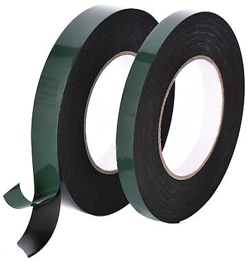 Double Sided Foam Tape Black Automotive Permanent Car Body Trim Self Adhesive
