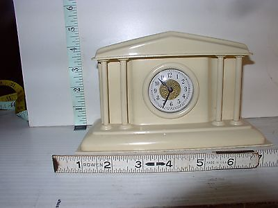 """Vintage Celluose Clock From """"The Par-A-Lux Clock Co. French Ivory Working!"""