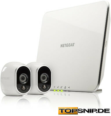 netgear arlo vms3230 smart home wireless cctv sicherheitssystem 2 hd kameras eur 246 90. Black Bedroom Furniture Sets. Home Design Ideas