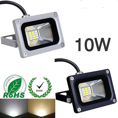 DC 12V Cool/Warm White Flood Light IP65 LED Spot Light Outdoor Garden Lamp 10W