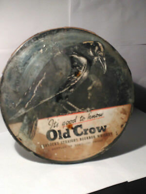A Vintage Rare Old Crow Mirror.. Kentucky Straight Bourbon Whiskey!!
