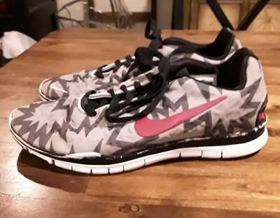 another chance 989be 47f65 Womens Nike Free TR Fit 3 Neon Pink Gray Black Design sz 10 FAST