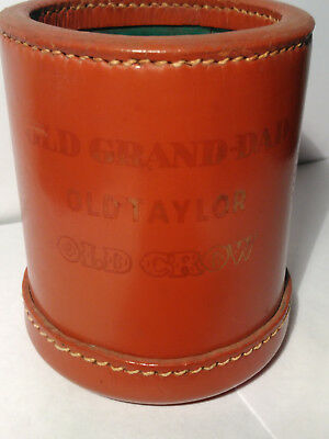 """VINTAGE OLD CROW"" Bourbon Whiskey Distillery Advertising Leather Dice Cup Dice!"