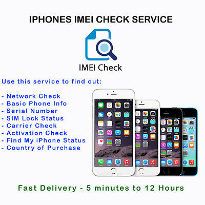 Fast IMEI Carrier Network SIM Unlock Status Check Report GSX For All iPhone iPad