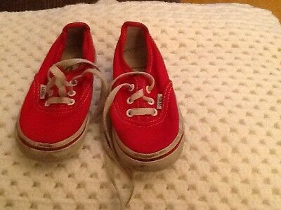 a21328934891eb Baby Vans Red Toddler Trainers Skate Kids Infants Boy Girls Shoes US 5.5.
