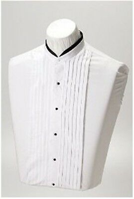 Devin Michaels Banded Formal White Shirts with Pleated Front