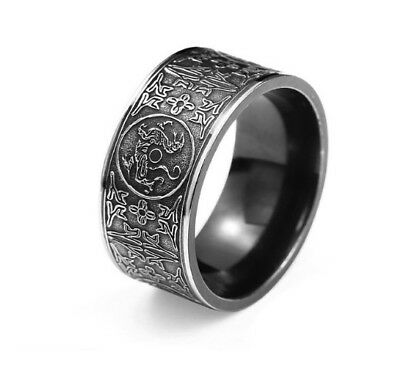 Mythical Dragon Symbol of Norse Viking Warriors silver ring Punk Gothic handmade