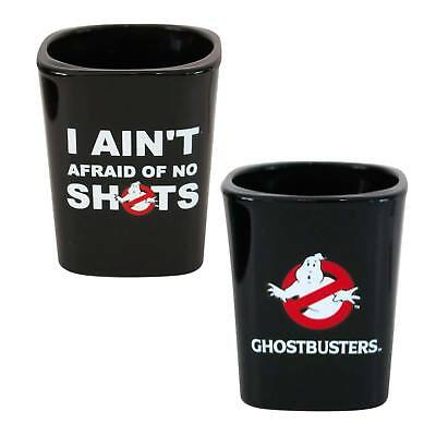 """GHOSTBUSTERS - Square Whiskey Shot Glass - """"I New Ain't Afraid of No Shots"""""""