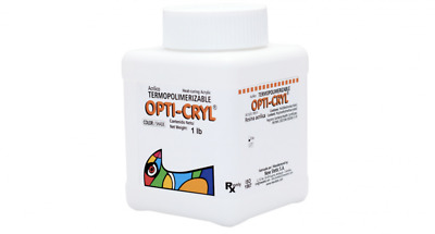 Opti-Cryl Heat Curing Acrylic Different Shades 1lb New Stetic