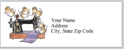 Personalized Address Labels Sewing Machine cute mice Buy 3 get 1 free (bx 168)