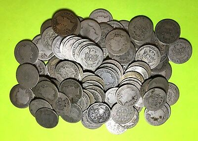 104 Barber Dimes 90% Silver Circulated Mix Lot - Free shipping !!
