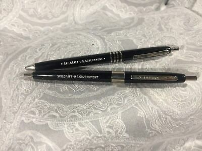 Skilcraft U.S. Government Retractable Ball Point Pen, Black Ink. LOT OF 2
