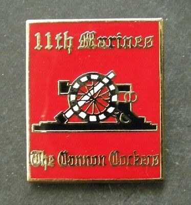 Us Marine Corps 11Th Marines Regiment Lapel Pin Badge 1 Inch Usmc