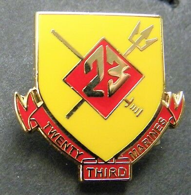 Us Marine Corps 23Rd Marines Regiment Lapel Pin Badge 1 Inch Usmc
