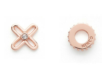 MIMCO Rose gold tone Take Two XO Earrings Studs NEW Authentic RRP $49.95