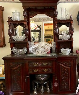 Ornate Walnut Sideboard