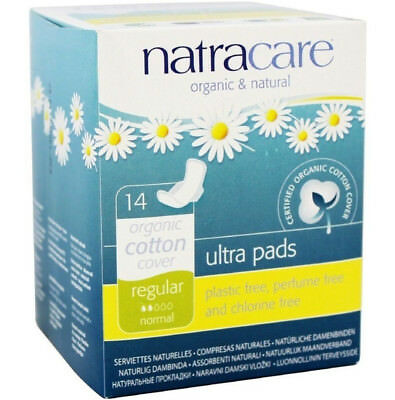 Natracare Ultra Pads with Wings Regular 14 CT / 14 Count / 14 each (5 Boxes)