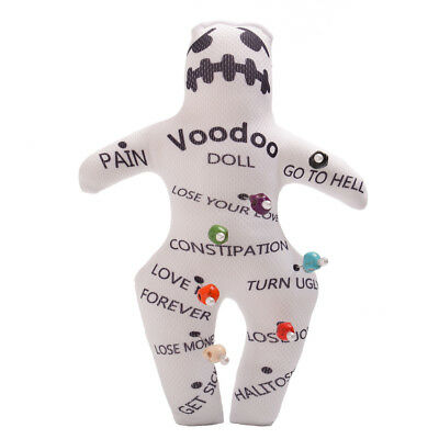 Authentic Voodoo New Orleans Doll With 7 color Skull Pins