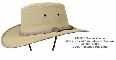 Barmah 1054 BE Beige Drover Allover Canvas Hat