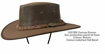 Barmah 1057 BR Brown Canvas Drover Airflow Hat