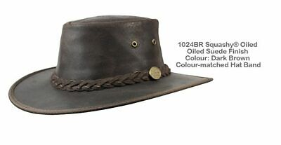 Barmah 1024 BR Foldaway Oiled Suede Leather Hat