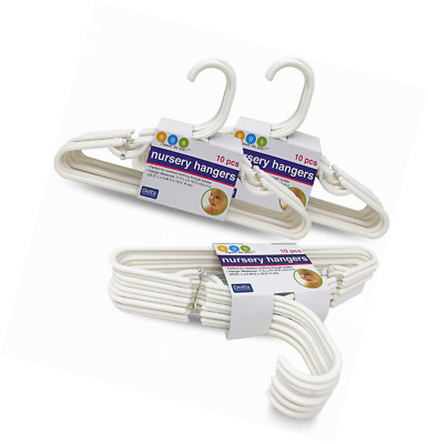 Delta White Nursery Hangers 30 Pack For Baby, Toddler, Kids, Children (3 Packs o