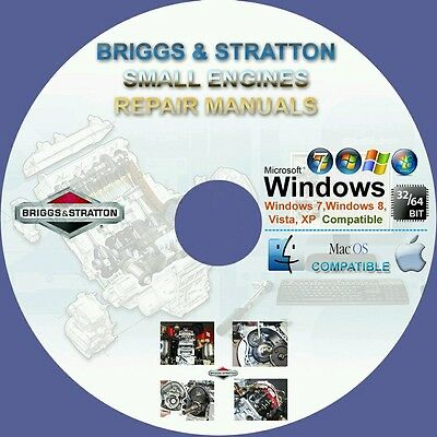 Briggs & Stratton Small Engine Service Repair Manuals On Cd