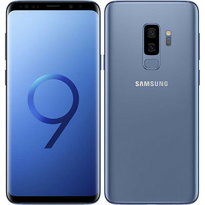 Samsung Galaxy S9+ Plus G965FD Dual LTE 64GB Coral Blue Stock in EU