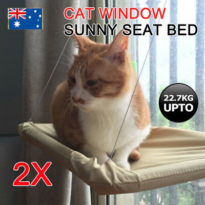 2X Comfortable Cat Window Mounted Bed Pet Sunny Wall Home Hammock Cover