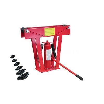 12 Ton Heavy Duty Hydraulic Pipe Bender Tubing Exhaust Tube Bending 6 Dies E2D7