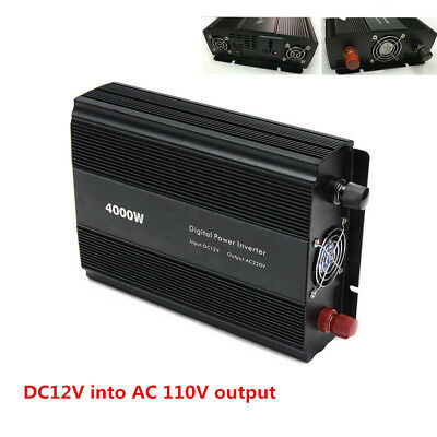 Auto 8000W Peak Modified Sine Wave Power Inverter Converter Low battery Alarm