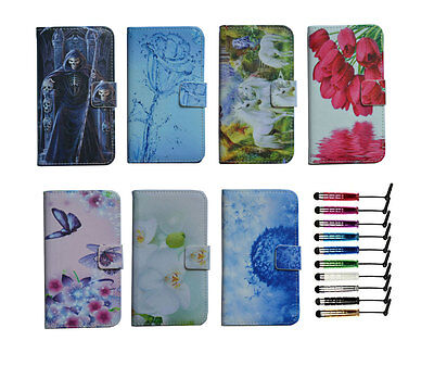 luxury Wallet Magnetic flip Leather case cover card For coolpad + mini stylus