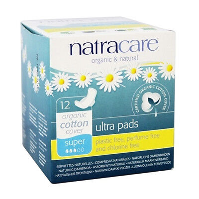 Natracare Ultra Pads Super 12CT (5 Boxes)  / 12 Count / 12 each (5 Boxes)