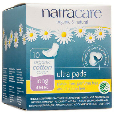Natracare Ultra Pads Long 10CT (5 Boxes)  / 10 Count / 10 each (5 Boxes)