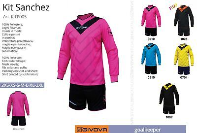 091426b5c01 complete football goalkeeper KIT SANCHEZ GIVOVA with PADDING,5 Colours  choice