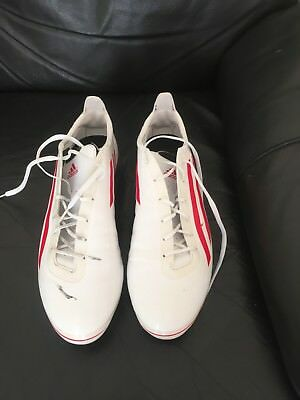 AdiZero RS7 Pro SG Rugby Boots White/Red Size 13