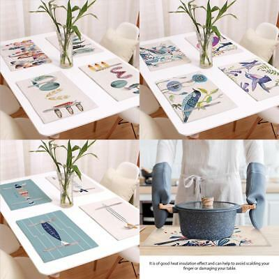 Placemats Cotton Linen Dining Room Table Mat Heat Insulation Pad Kitchen Decor G
