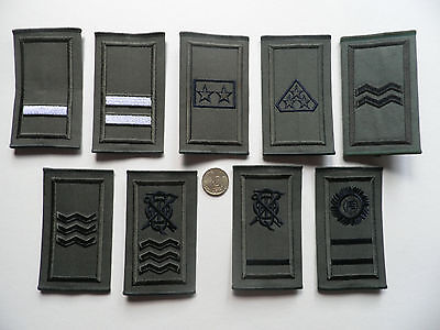 Irish Defence Forces, IDF,  Army Rank Epaulette Badges, NCO ranks,  New.