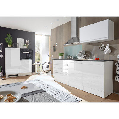 k chenblock jazz 4 k che k chenzeile einbauk che wei matt hochglanz anthrazit eur 549 95. Black Bedroom Furniture Sets. Home Design Ideas