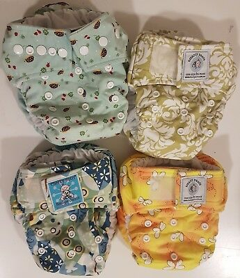 4 x MCN Modern Cloth Nappies
