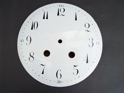 Vintage white enamel clock dial - 162 mm diameter - repair or spares
