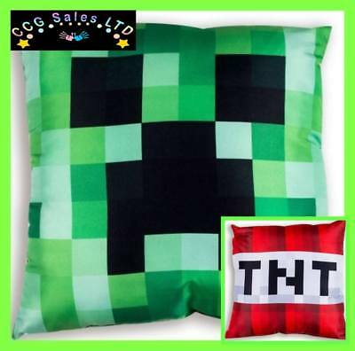 Official Minecraft Creeper TNT Reversible Cushion