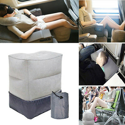 Inflatable Travel Footrest Leg Foot Rest Travel Pillow Portable Pad Kids Bed
