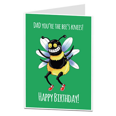 Happy Birthday Card For Dad Cute Quirky Perfect For Mums 40th 50th