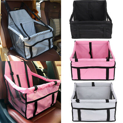 Portable Dog Car Seat Belt Booster Carrier Bag for Pet Cat Puppy Travel Safety