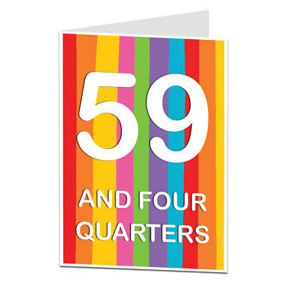 60th Birthday Card 60 Today Funny Quirky Design Perfect For Mum Dad Friends