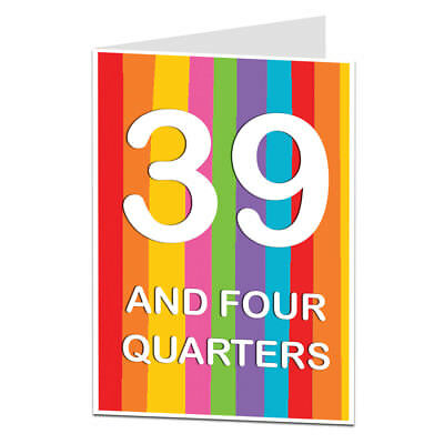 40th Birthday Card 40 Today Funny Quirky Design Perfect For Son Daughter Friends
