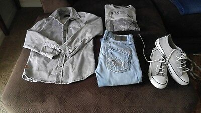 """Mens (older boys) size 29Sx30 BKE (Buckle) """"Aiden"""" distressed jeans"""