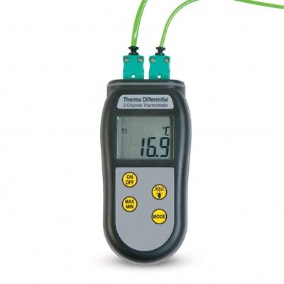 Dual channel type K digital thermometer ThermaQ 2.
